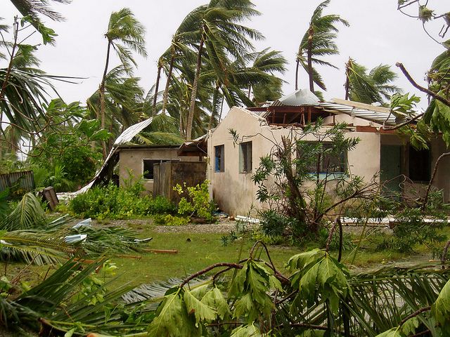 Damaging winds from Cyclone Percy, Tokelau 2005. Photo: AusAID
